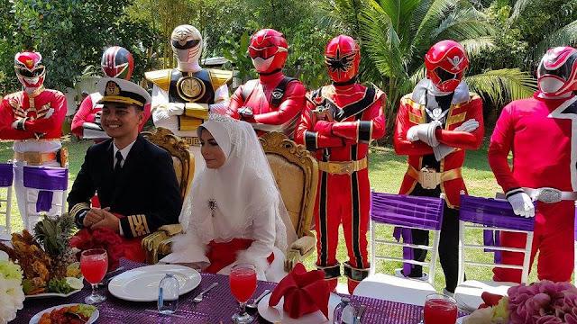 Viral Perkahwinan Bertemakan Power Rangers