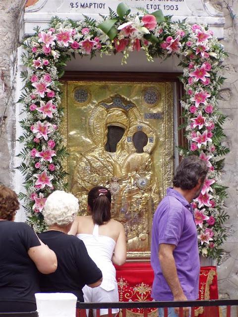 Ιερά Μονή Εικοσιφοίνισσας-Σέρρες-Παγονέρι-η θαυματουργή εικόνα της Παναγίας