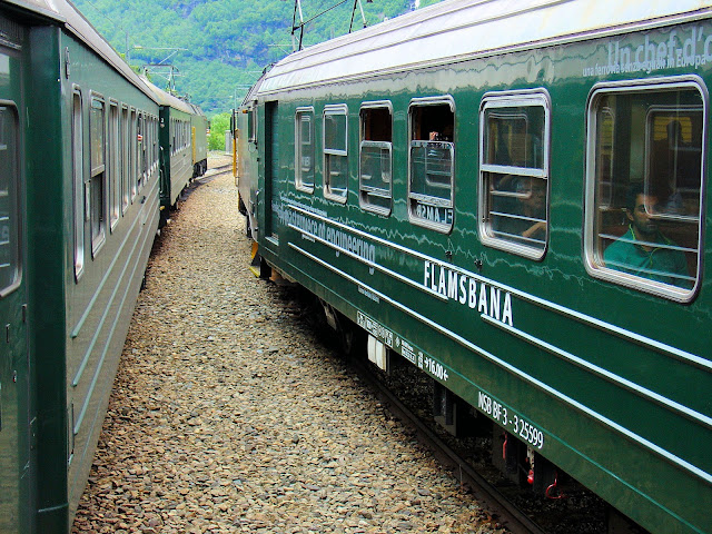 The Flåm Railway as it's seen today. Photo: EuroTravelogue™.