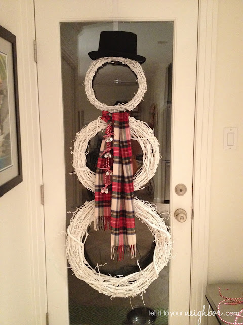Tell It To Your Neighbor Snowman Wreath Dip Baby Dip