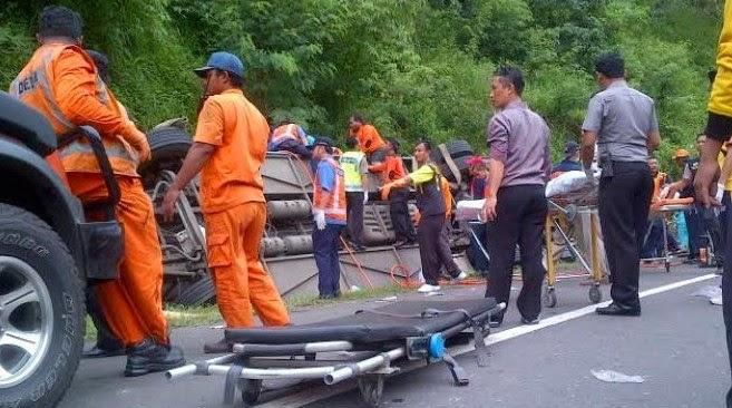 Kecelakaan BusTol Jatingaleh Semarang