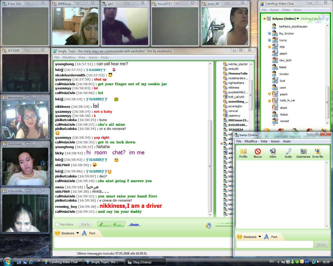 web cam chat room