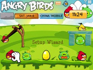 Tema Angry Birds blackBerry 8520