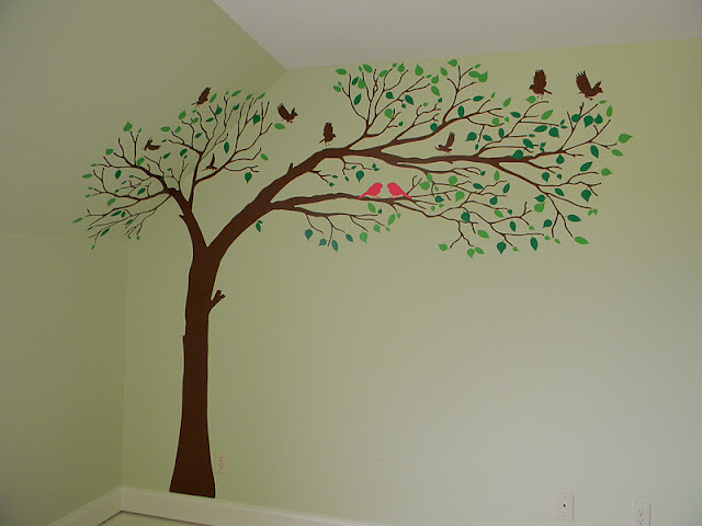 Simple Trees Painted On Wall