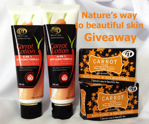 GT COSMETICS CARROT LOTION and SOAP GIVEAWAY