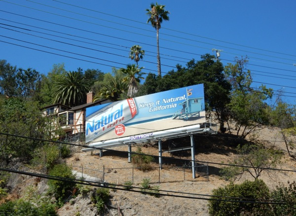 Keep it natural California Natural Light beer billboard