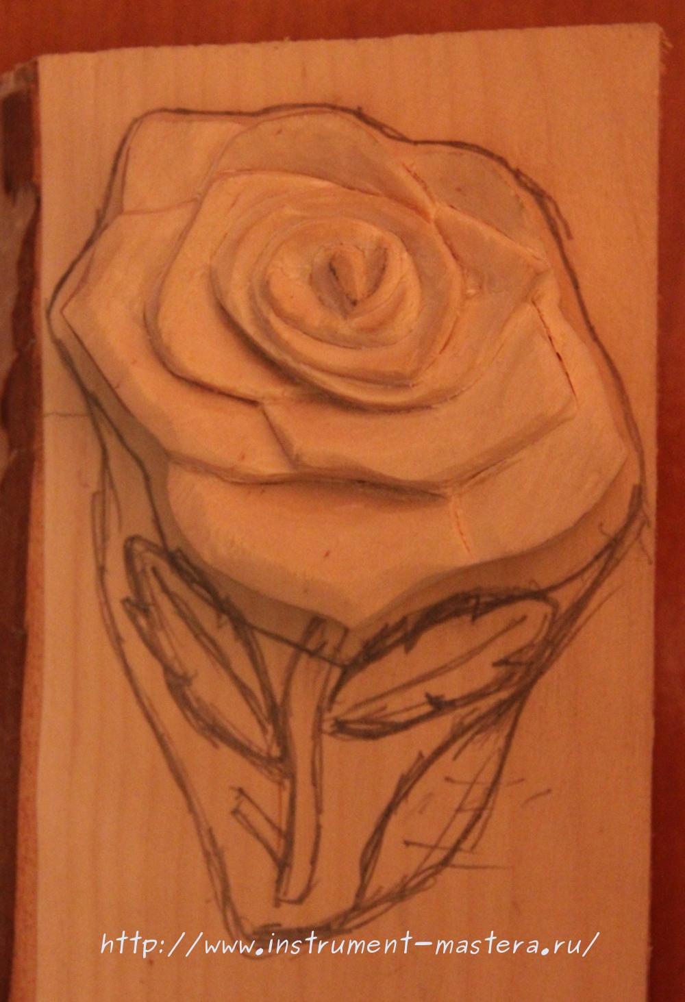 Резьба по дереву. Шкатулка с розой