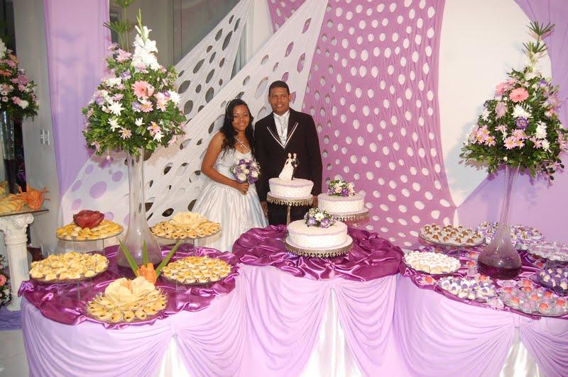 Eventos Decoração casamento  Branco e Lilás (Realizado em 2010