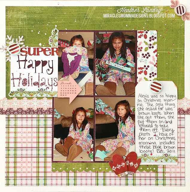 Christmas Present_Scrapbook Layout_Boots