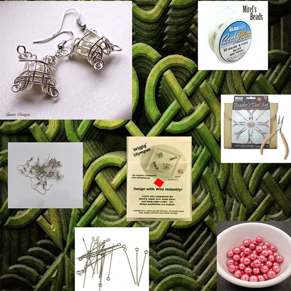 gunadesign guna andersone celtic wire earrings tutorial and supplies