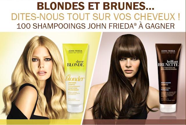 Jeu concours John Frieda: 100 shampooings à gagner