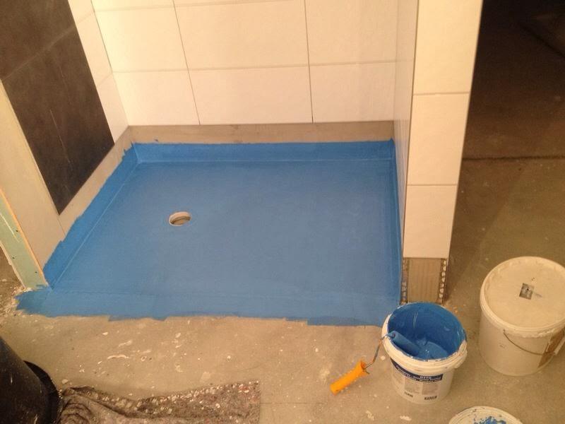 Mosaik Fliesen Bodengleiche Dusche : – Danwood Point 238 im Odenwald: Bodengleiche Dusche in Eigenregie