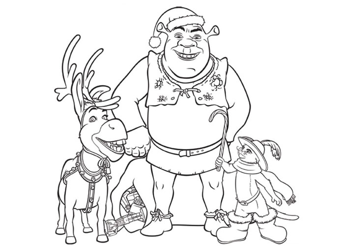 Cartoon Christmas Coloring Pages