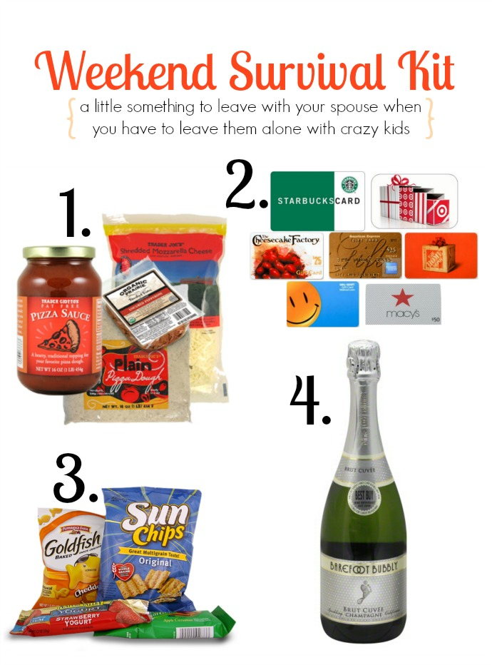 Weekend Survival Kit for the stay-at-home parent | gift for spouse