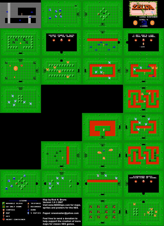Nintendo cartes map et guide officiel for Bureau zelda