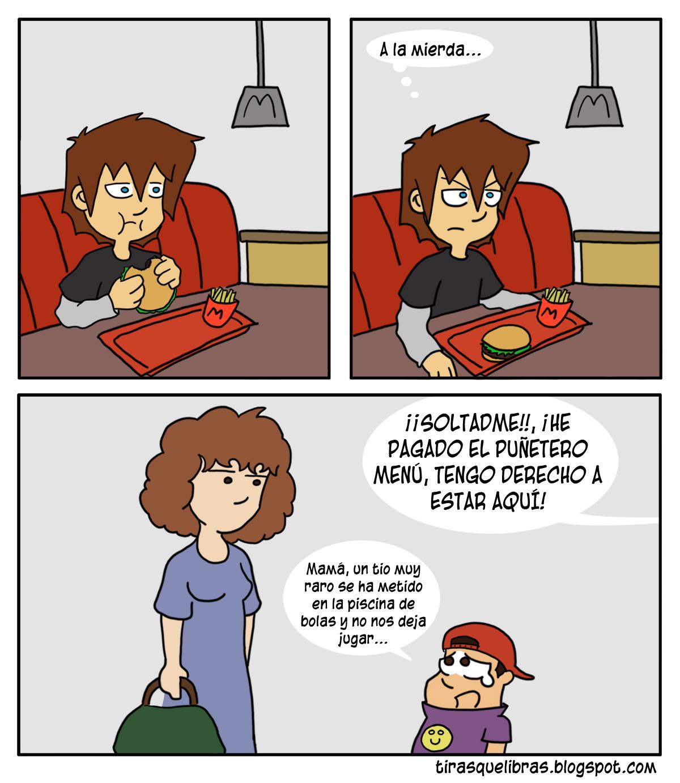 webcomic ye lo que hay, Ismmael y la comida rapida