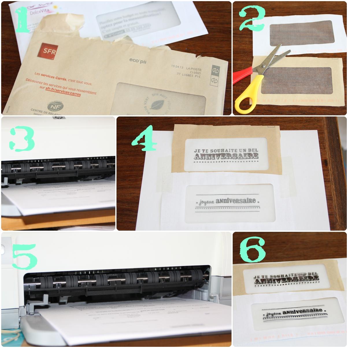 Made in liochka recyclage revue et fen tre d 39 enveloppe for Enveloppes a fenetre