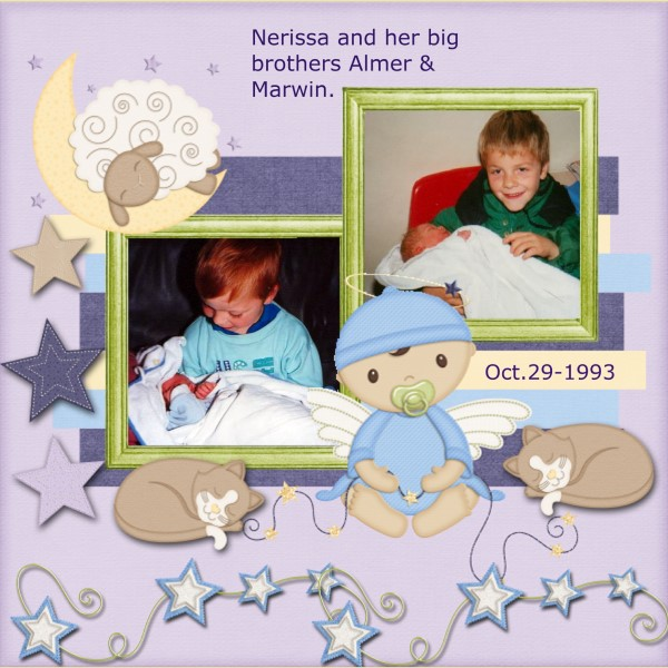Feb.2016 - Nerissa and her big brothers