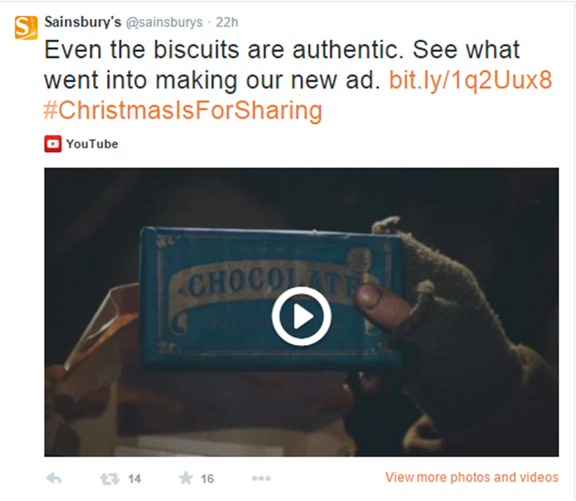 sainsburys christmas tv ad twitter