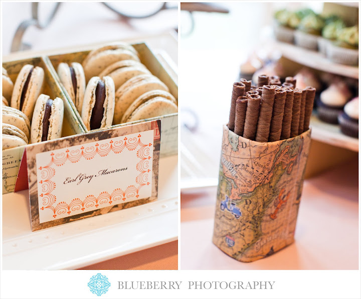 San Francisco Orinda Country Club travel theme desserts wedding photography