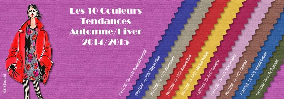 Les Couleurs Tendances Automne/Hiver 2014-2015