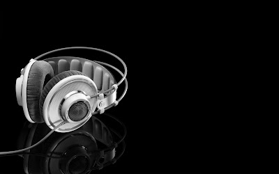 White black music dj headphones wallpapers