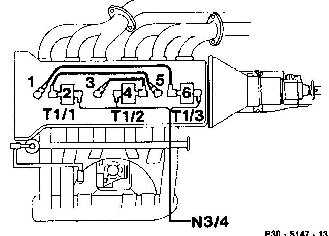 Схема подключения высоковольтных проводов mercedes w202