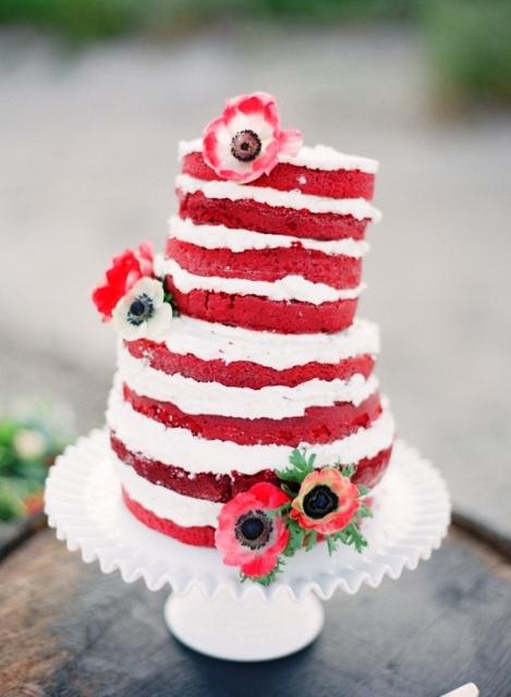 tarta nupcial nata y fresa
