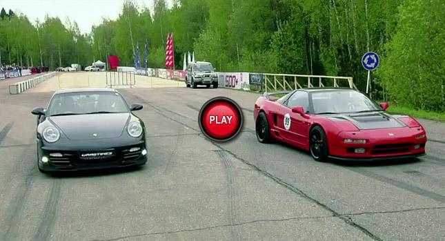 Porsche-911-Turbo-S-Vs.-Twin-Turbo-Honda-NSX-with-700Hp