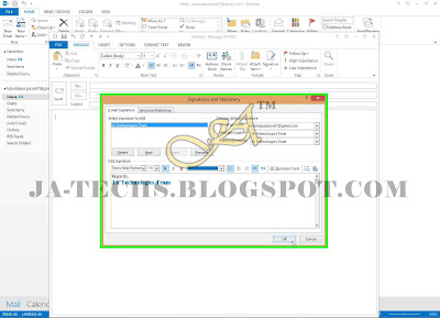 Auto Add Signature in MS Outlook Emails - Step 9