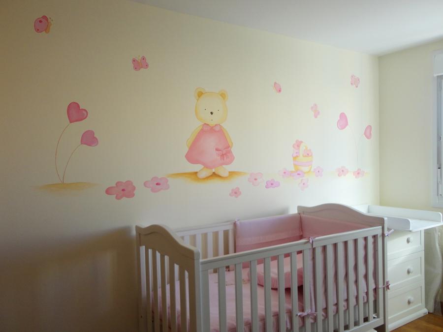 Decopared dibujos infantiles en paredes - Murales para ninas ...