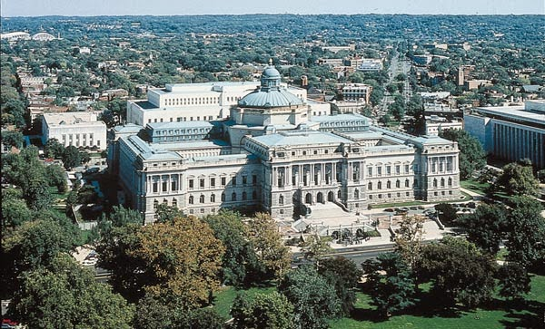 The Thomas Jefferson Building in Washington, DC, the oldest of the Library of Congress buildings