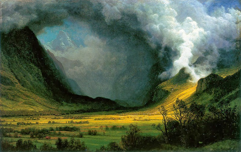 Storm in the Mountains by Albert Bierstadt