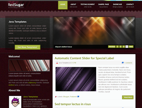 Red Sugar Blogger Theme