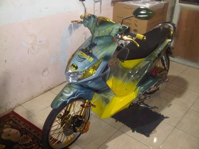 Modifikasi Honda BeAT Full Airbrush