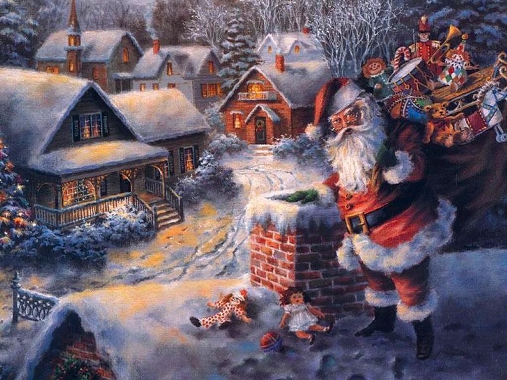 free desktop background wallpapers christmas santa claus