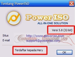 Registered user PowerISO 5.8