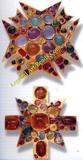 'Byzantine' gold and colored stone brooches designed by Verdura, c. 1930, for Chanel.