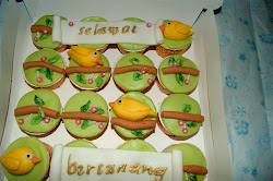 Cupcake burung di dahan