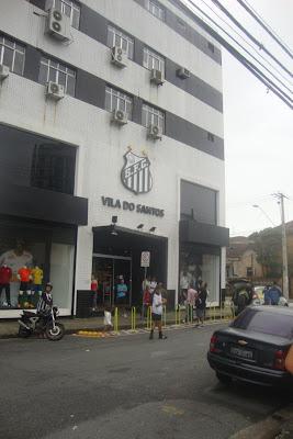 Frente do estádio da Vila Belmiro