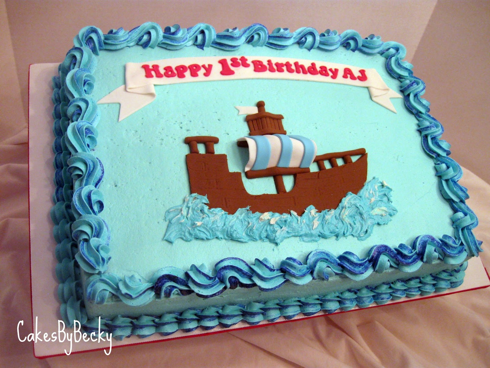 Cakes by Becky: Jake & The Neverland Pirates First Birthday