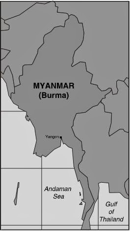 Peta Myanmar (Burma)