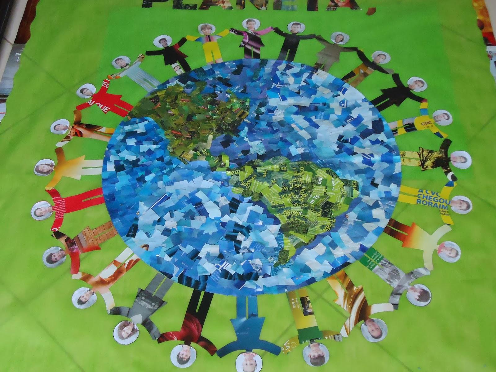 A arte especial de ensinar aprendendo mural meio for Mural de natal 4 ano