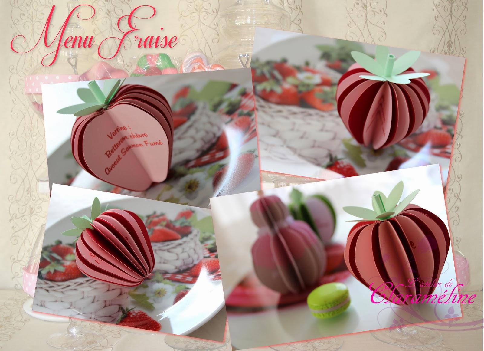 Favori Menu fraise,thème nature,gourmandise et champêtre. | L'atelier de  CQ48