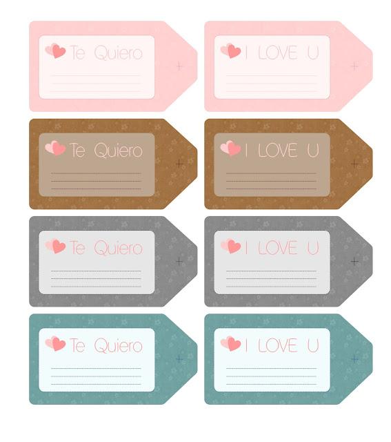 diseño etiquetas romanticas