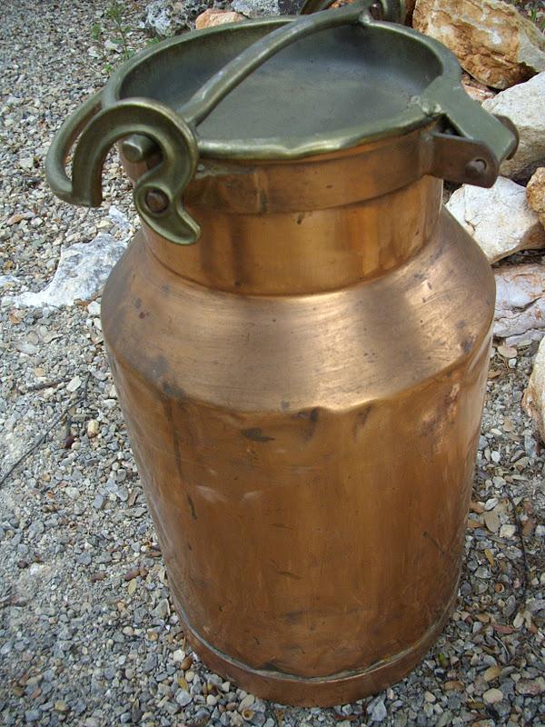 ancien norme pot a lait en cuivre antique french copper ferme art. Black Bedroom Furniture Sets. Home Design Ideas