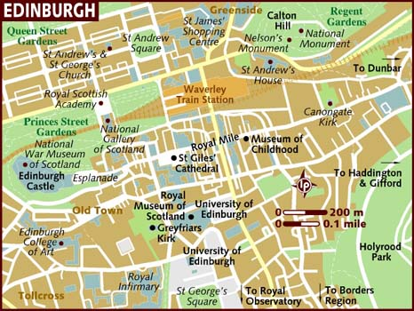map of edinburgh city area. Black Bedroom Furniture Sets. Home Design Ideas