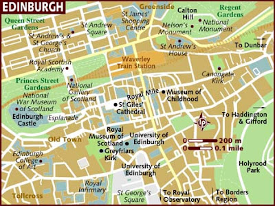 Map of Edinburgh City Area