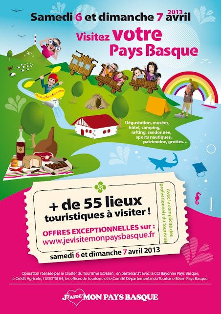 «je visite mon Pays Basque» édition 2013  weekend Portes Ouvertes du Tourisme !