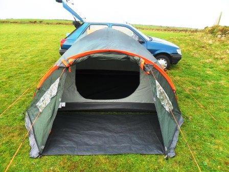 Fly sheet and inner tent & Bicycles and the Sea: Regatta 4 person tent at Nant Y Big campsite ...